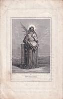 H.PRENTJE  Ste.VIRGNIE + MARIA DE LUST - CAPRYCK  1811  KLEIN BEGIJNHOF GENT 1863       2 SCANS - Esquela
