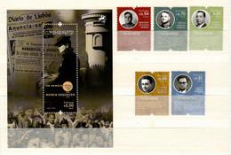 Portugal 2021 , Memoria Do Holocausto - Satz + Block , Postfrisch / MNH / (**) - Unused Stamps