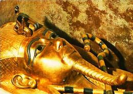► Thebes Tut Ankh Amun Timbres Air Mail Egypt  Non Oblitérés X 2  Sur Carte 1982 - Musei