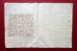 Autografo Antonietta Tommasini Lettera Leopoldo Fidanza Ossian Parma 1806(?) - Autographs