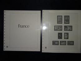 France Pages Safe Dual 1970 à 1977 (48 Pages Préimprimées Avec Pages Plastiques Pour Le Classement Des Timbres ) - Pre-printed Pages