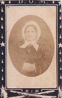 MARIA DUYTSCHAEVER    OVERLEDEN GENT  1877   80 JAAR OUD    2 SCANS - Esquela