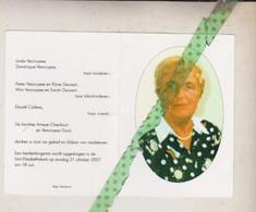 Gilberte Ameye-Vercruysse, Heule 1924, Kortrijk 2007 - Esquela