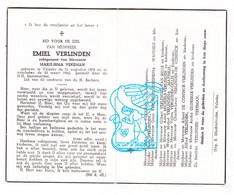 DP Emiel Verlinden ° Velzeke Zottegem 1874 † 1960 X Marie Irma Vekeman / Schepens Wandels Van Belle Glorieux Gillis - Imágenes Religiosas