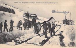 43 - HAUTE LOIRE ( Lieux à Déterminer ) La Neige En Montagne ( Voie Ferrée Obstruée Par Les Congères ) Jolie CPA Animée - Sin Clasificación