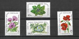 CYPRUS TURKISH 1981 FLOWERS MNH - Heilpflanzen