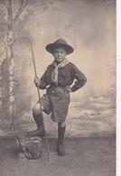 Carte-photo JEUNE SCOUT - Scoutismo