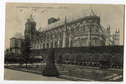 CPA 18 BOURGES Cathédrale (exp En Angleterre 1909 ) - Bourges