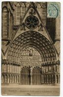 CPA 18 BOURGES La Cathédrale ( à Amélie Siguret Villeneuve St Georges 1907) - Bourges