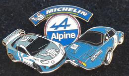 PINS SUPERBE PIN'S ALPINE RENAULT MICHELIN ARGENTE 6cm - Renault