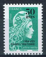 """France, Marianne Surchargée """"50 Ans GRAVE DANS L'HISTOIRE"""", Imprimerie De Boulazac, 2020, **, TB - Unused Stamps"""
