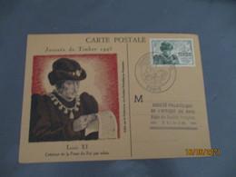 Tunisie Tunis 1946 Louis 11 Cm Carte Maximum 1946 - Storia Postale