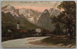 Garmisch Partenkirchen - Garmisch Blick Auf Alpspitze Waxenstein Und Zugspitze 1 - Garmisch-Partenkirchen