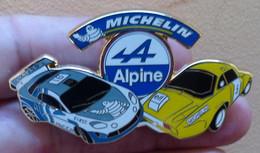 PINS SUPERBE PIN'S ALPINE RENAULT MICHELIN DORE 6cm - Renault