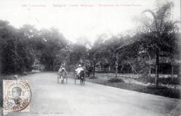 CONCHINCHINE - SAIGON - JARDIN BOTANIQUE  < PROMENADE EN POUSSE-POUSSE EN 1912 - Vietnam