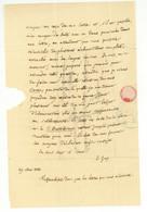 Jacques Etienne GAY (Nyon 1786 - Paris 1864) Botaniste Taxonomiste LAS Autographe 1838 - Autographs