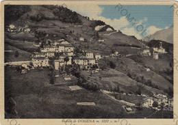 CARTOLINA  DOSSENA M.1000,BERGAMO,LOMBARDIA,VEDUTA DI DONSSENA,CULTURA,RELIGIONE,MEMORIA,VIAGGIATA 1954 - Bergamo