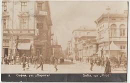 Carte Photo    Sofia  (Bulgarie)   La Rue Pirot  Animée   1931 - Bulgaria