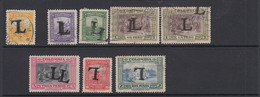 Colombia 1950 Lansa Overprint ERRORS (8 Used Examples) - Colombia