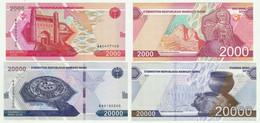 Uzbekistan - 2000 + 20000 Sum 2021 UNC Lemberg-Zp - Ouzbékistan