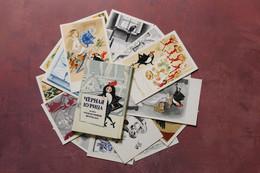 Vintage Full Set 16 Russian Postcard USSR 1972 BLACK HEN Or Underground Inhabitants. SECRET! Artist GOLTS - Fiabe, Racconti Popolari & Leggende