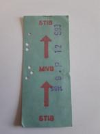 Ancien Ticket De La STIB... Lot400 . - Europa