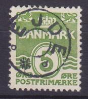 Vorläufer Faroe Islands Denmark Used Abroad Uds. Stjernestempel Star Cancel EJDE 1933 Mi. 198, 5 Øre Wellenlinien - Féroé (Iles)
