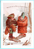 Jolie Chromo Maison Belle Jardinière 1-12/6. Fripes Et Professions. Enfants Déguisés. Imp. Appel 2-1-3/6 - Autres