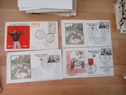 Lot 17 Fdc Enveloppe 1 Er Jour De 1952 A 1965  Tout En Photo - 1950-1959