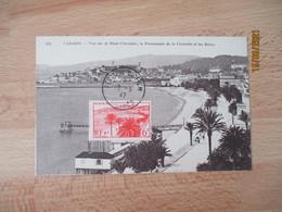 1947  Festival Du Film Cannes Obliteration Lettre - 1921-1960: Modern Period