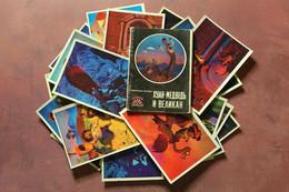 "RARE Vintage Full Set 22 Russian Postcards 1978 Artist Kantorov. Cuba Fairy Tale ""Juan Bear And Giant"" Old Toy Monsters - Fiabe, Racconti Popolari & Leggende"