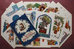 Vintage Full Set 16 Russian Postcards 1976 Amazing Pictures From Life Of Sage Hodja Nasreddin. Muslim East. - Fiabe, Racconti Popolari & Leggende