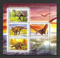 Romania 2005 Prehistoric Animals - Dinosaurs MS MNH - Nuevos