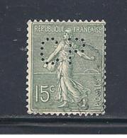 Y & T   N°  130  Perforé   C P  333     Ind  3   (26§07) - Perfins