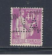 Y & T   N°  281  Perforé   A. L.  128     Ind  4   (26§07) - Perfins