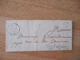 Lettre 1852 Boite Rurale  G Bezou  Cachet Type 15 - 1849-1876: Classic Period