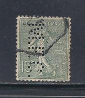 Y & T   N°  130  Perforé   M. F. C.  61    Ind  5   (26§07) - Perfins