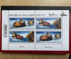 Bloc  4 Timbres - TAAF 2015 Raid IBEA En Terre Adélie 1980/1981 Daté 08.10.14 - Blocchi & Foglietti