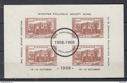 Blok Van 4 3rd Annual Stamp Exhibition - Oblitérés