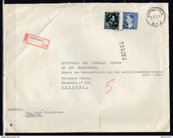 Aangetekende Brief Van Antwerpen A1J Naar Brussel - Covers & Documents