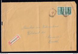 Aangetekende Brief Van Antwerpen 11A Naar Brussel - Covers & Documents