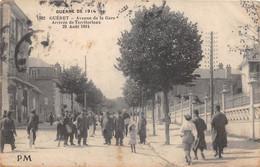 GUERET - Avenue De La Gare - Arrivée De Territoriaux - 23 Août 1914 - Guéret