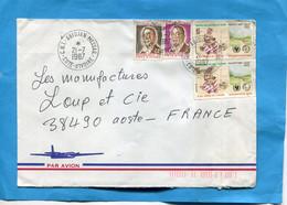 MARCOPHILIE-Cote D'voire-lettre >Françe Cad- Abid Messag-1987-thematic-4-stamps N°771 Survie De L'enfant - Ivory Coast (1960-...)