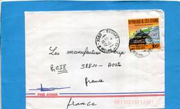 MARCOPHILIE-Cote D'voire-lettre >Françe Cad- Bouaké-1987-thematic-stamps N°776service Courrier Accéléré - Ivory Coast (1960-...)