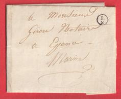 BOITE RURALE SUPPLEMENTAIRE SEULE L/2 LE CHATELIER MARNE POUR EPENSE - 1801-1848: Precursors XIX