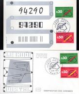 """"""" CODE POSTAL """" Sur LOT (Enveloppe 1er Jour Et Carte Maximum) De 1972 N° YT 1719 1720 FDC CM - Post"""