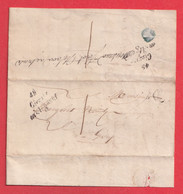 CURSIVE 49 GIVRY EN ARGONNE TAXE 1 PUIS REEXPEDIEE DU MEME BUREAU  BOITE RURALE B EPENSE - 1801-1848: Precursors XIX