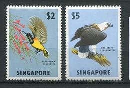 264 SINGAPOUR 1962/68 - Yvert 63/64 - Oiseau Rapace - Neuf **(MNH) Sans Trace De Charniere - Singapur (1959-...)