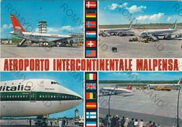 CARTOLINA  MILANO,LOMBARDIA,AEROPORTO INTERCONTINENTALE MALPENSA,BELLA ITALIA,RELIGIONE,CULTURA,MEMORIA,VIAGGIATA 1977 - Milano (Milan)