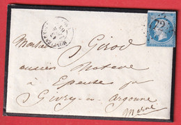 N°14 GC 2472 MONTIERENDER HAUTE MARNE POUR EPENSE MARNE - 1849-1876: Klassik
